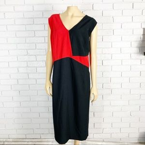 Nipon Boutique Women's Red and Black Sheath